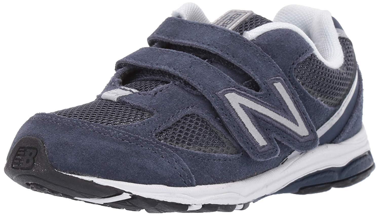 New Balance Boys' 888v2 Hook and Loop Running Shoe, Navy/Grey, 6 M US Toddler by New Balance