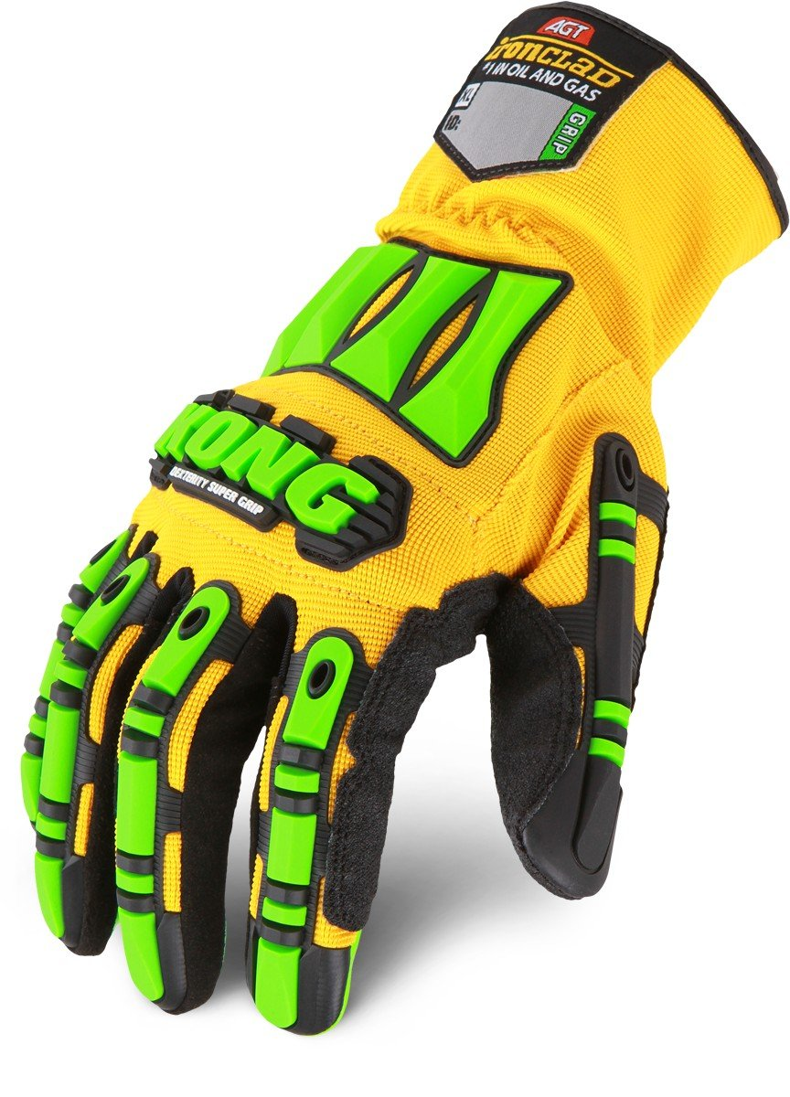 Ironclad Kong SDXG2-05-XL Dexterity Super Grip Oil & Gas Safety Impact Gloves, X-Large