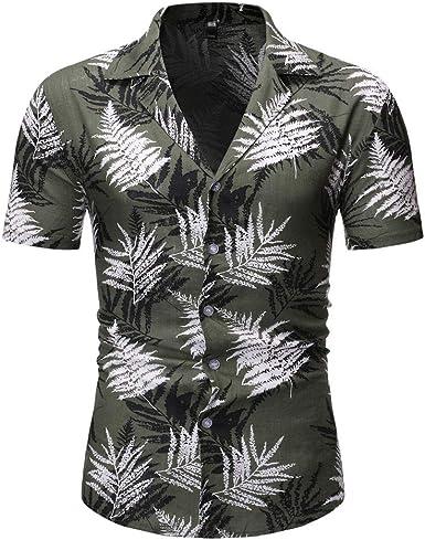 Cocoty-store 2019 Camisa Hawaiana para Hombre Funky Casual Button Down Very Loud Manga Corta Unisex, S/M/L/XL/2XL, Caqui, Negro, Verde: Amazon.es: Ropa y accesorios