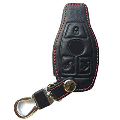 Rpkey Leather Keyless Entry Remote Control Key Fob Cover Case protector Replacement Fit For Mercedes Benz W203 W210 W211 AMG W204 C E R CL GL S SL BGA CLS CLK CLA SLK Case Classe IYZ3312 MB-KEYPROG 2: Beauty