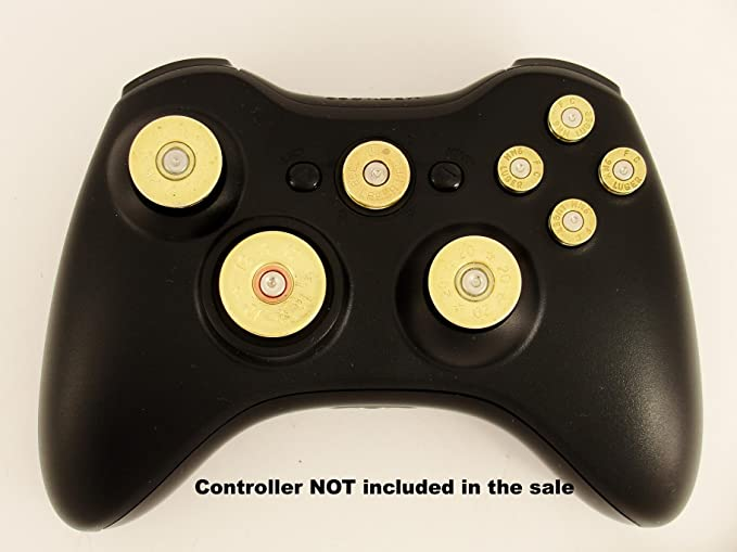 Xbox 360 controller FULL SET of Replacement Brass Bullet Buttons ...