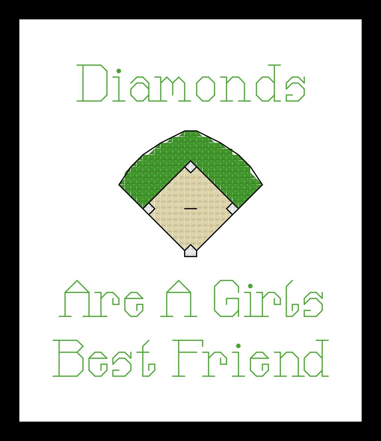 Counted Cross Stitch Kit. Diamonds are a girls best friend