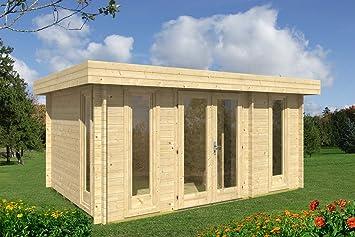 Gartenhaus Oriental-5 - Caseta de madera para jardín (470 x 320 cm, 40 mm): Amazon.es: Jardín