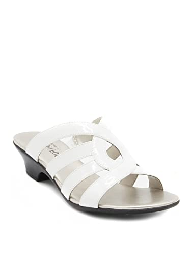 Image Unavailable. Image not available for. Color  London Fog Womens Elvis  Heeled Dress Sandals All Over White Size 11 M f65c45248