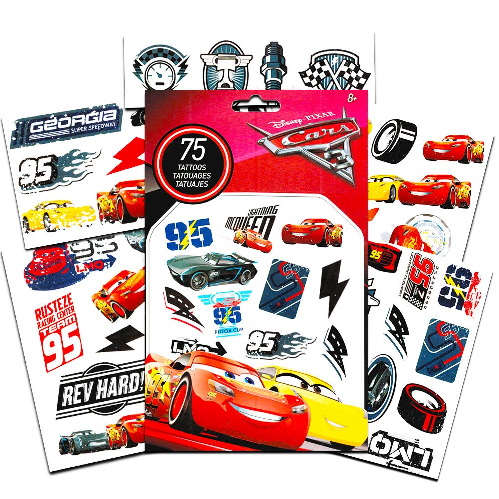 50 Temporary Tattoos Disney Cars Temporary Tattoos Party Favor Set