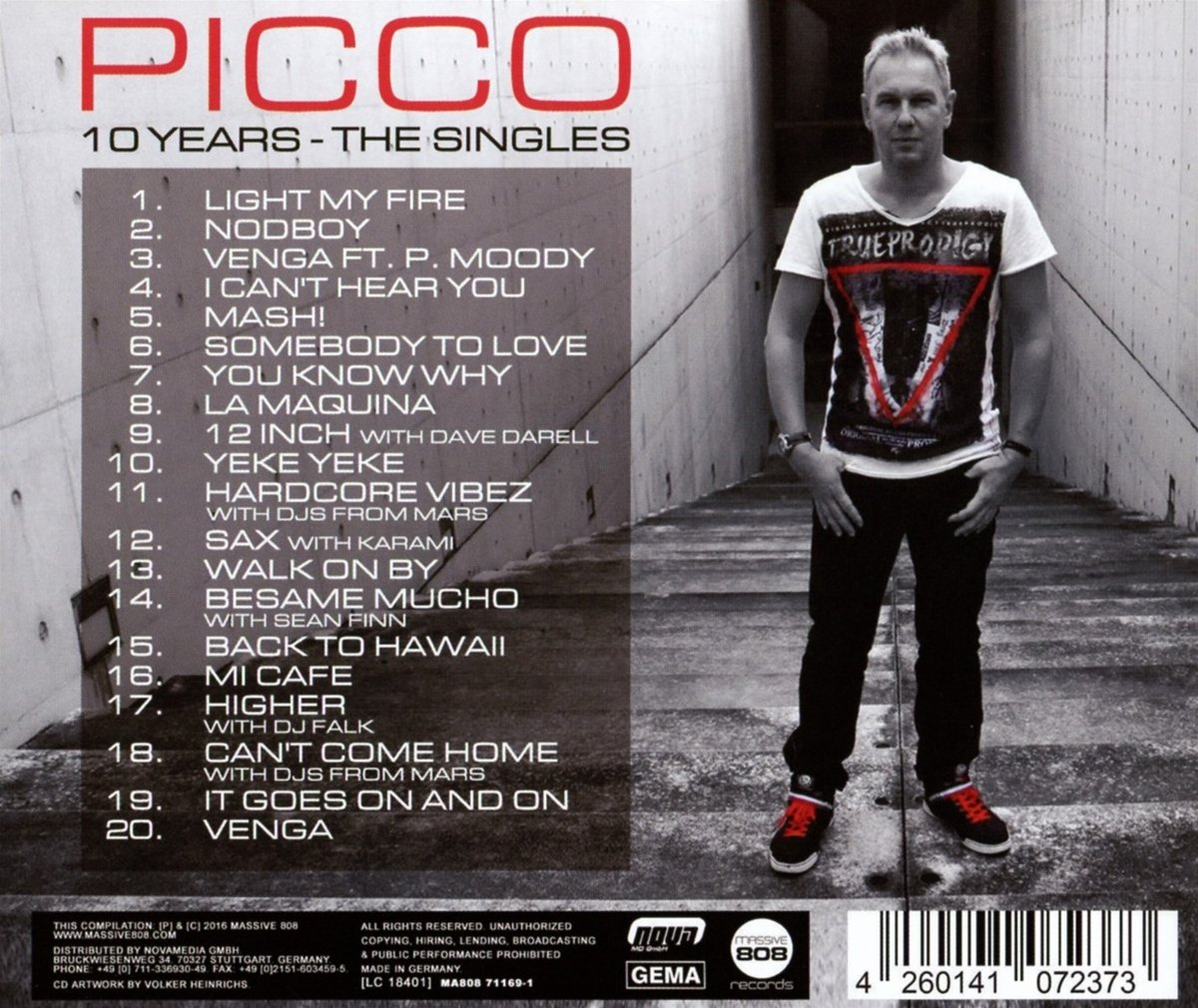 Picco Feat. Sean Finn/Dave Darell/Djs From Mars... - 10 Years - The Singles - Amazon.com Music