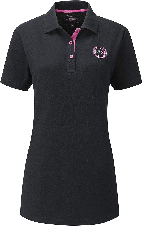 Polo Shirt Black Work Kit Girl Womens