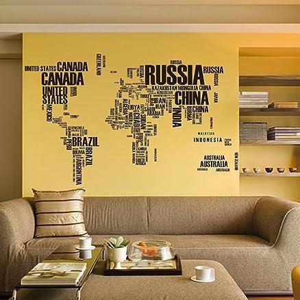 Buy syga world map wall sticker pvc vinyl 61 cm x 5 cm x 5 cm syga world map wall sticker pvc vinyl 61 cm x 5 cm gumiabroncs Image collections