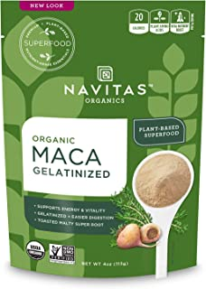product image for Navitas Organics Maca Gelatinized Powder, 4 oz. Bag, 23 Servings — Organic, Non-GMO, Gluten-Free