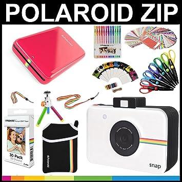 Polaroid Paquete de Regalo de Impresora Móvil ZIP + Papel ZINK (30 hojas) + Libro de recuerdos temático Snap + Bolsa + 6 tijeras multicorte + 100 ...