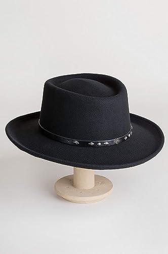 9435bde090e Overland Sheepskin Co Quincy Crushable Wool Waterproof Gambler Hat at  Amazon Women s Clothing store