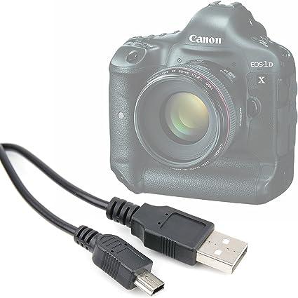 Cable USB para cámara SLR Canon EOS 1D X, 5DS R, 5DS, 5D, 550D, 6D ...