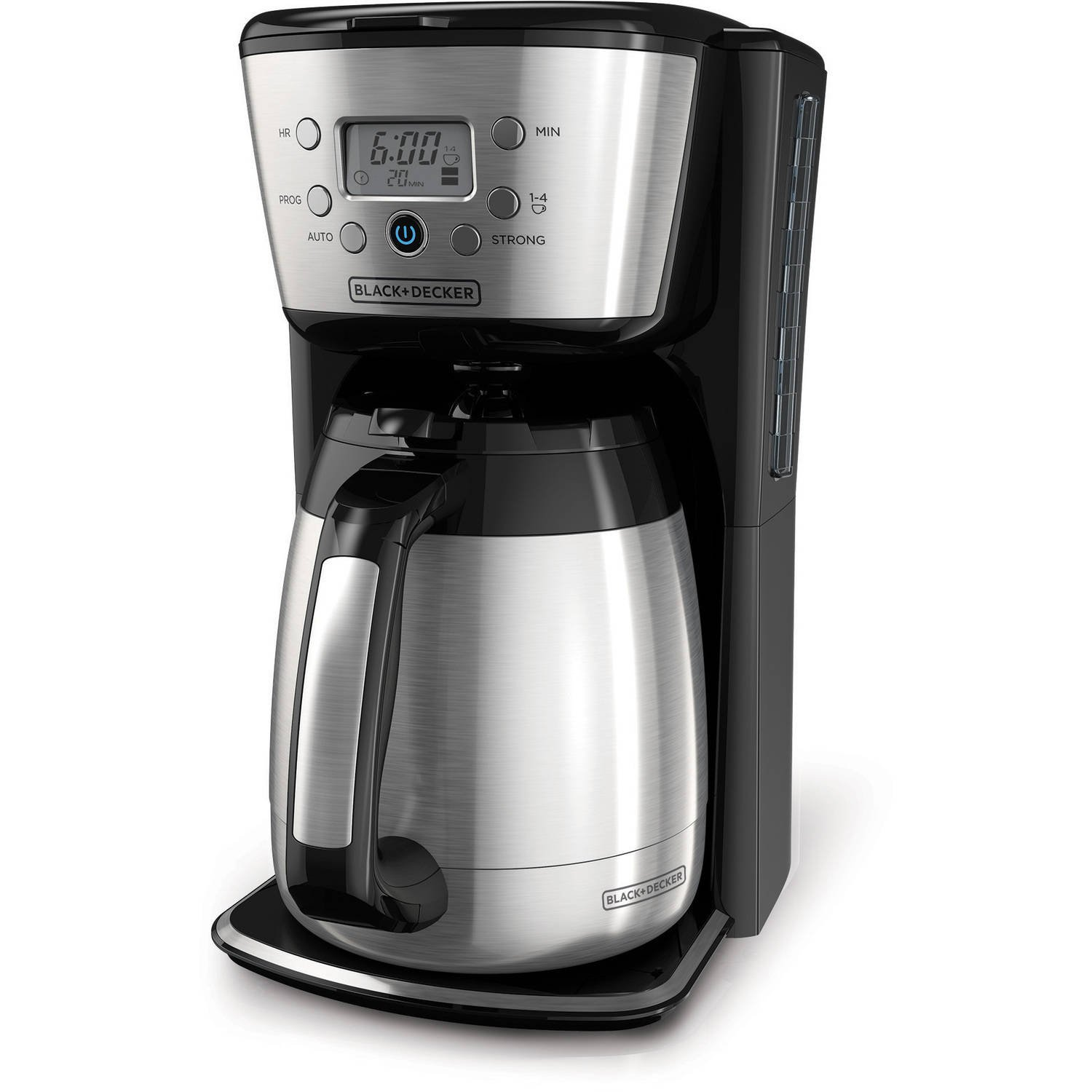 Black and decker coffee maker 12 cup programmable - Amazon Com Black Decker Cm2036s 12 Cup Thermal Coffeemaker Black Silver Kitchen Dining