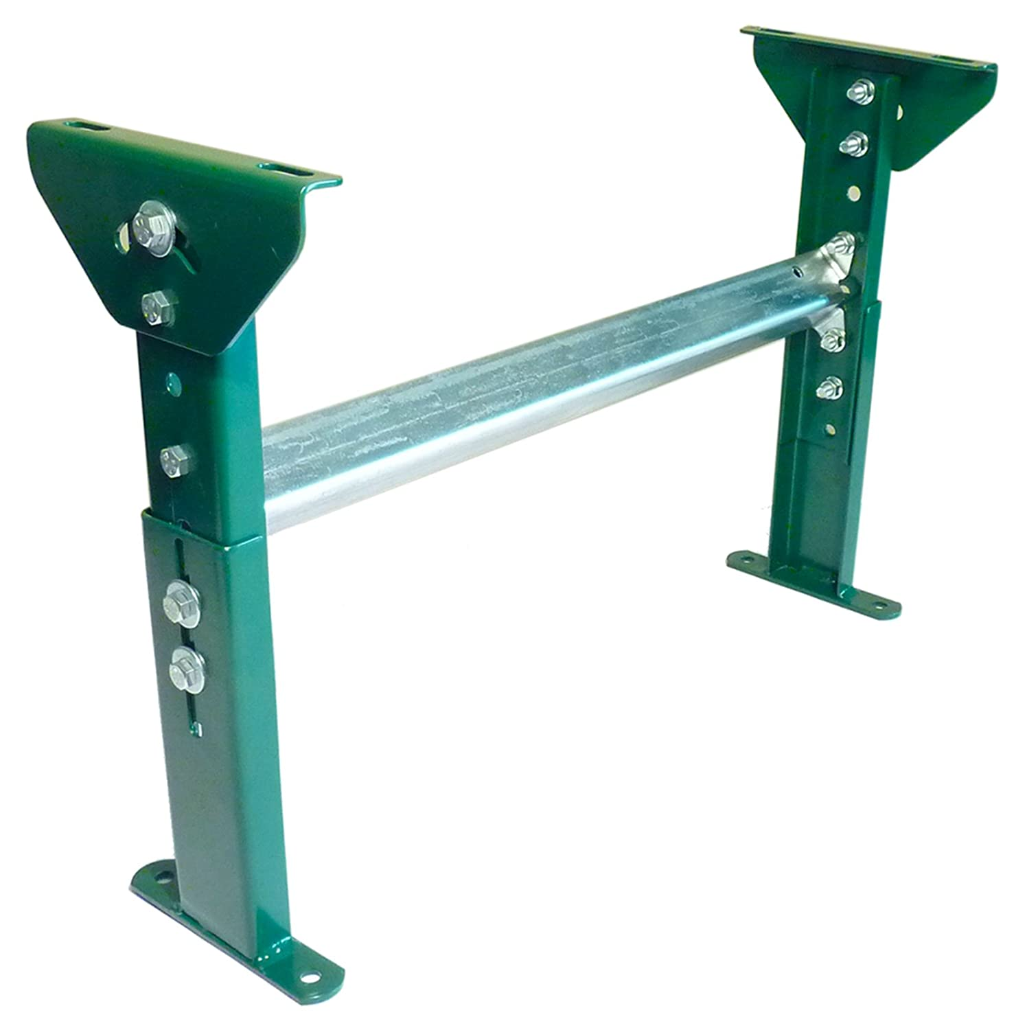 8 Length Top of Stand Heights of 19-1//2 to 31 1500 lb Capacity Ashland Conveyor AH15M25B16 Adjustable Height Light Duty H-Stand for 16 Between Frame Width Conveyor Systems 19.1875 Width