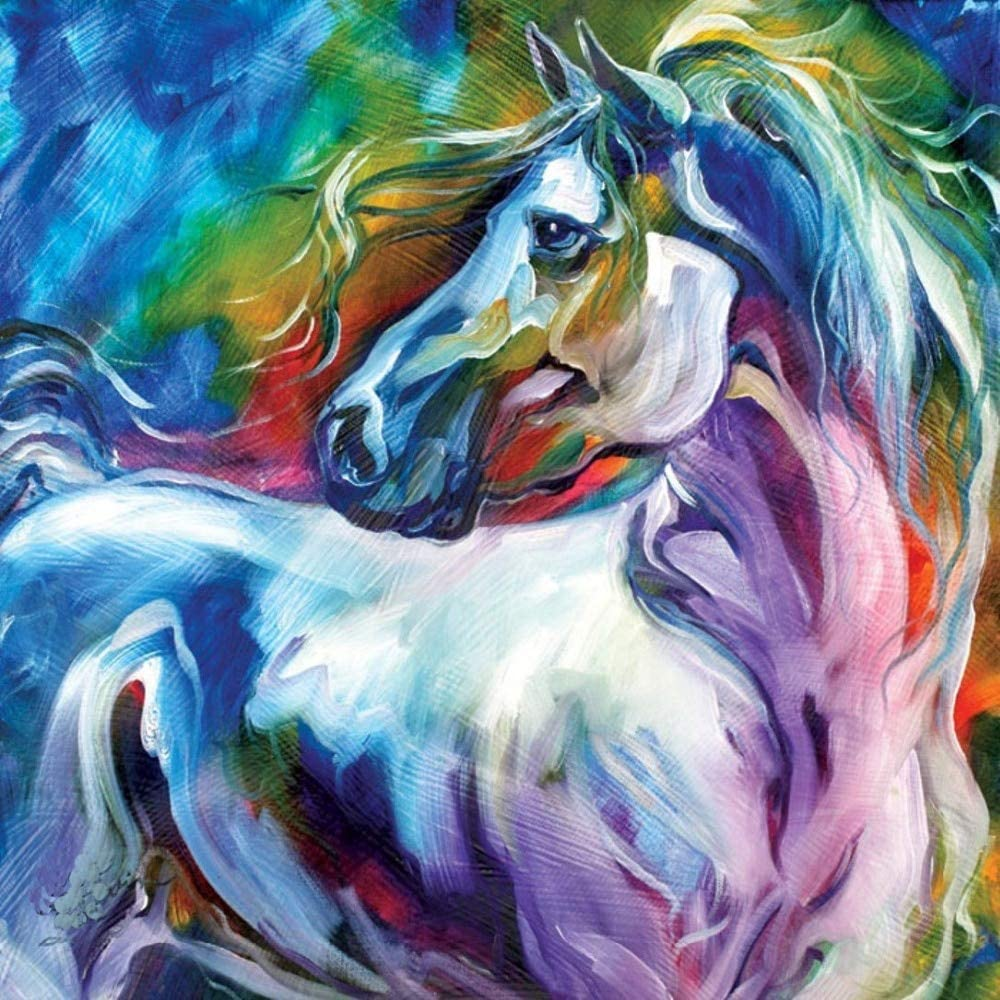 CHASOE Arte De La Pared 100% Pintado A Mano Cuadros Abstractos Modernos del Caballo En La Lona Pinturas Al Óleo Animales para La Decoración del Hogar