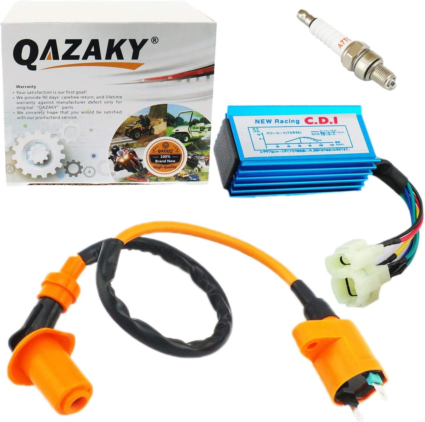 Unbranded NEW RACING IGNITION COIL SET compatible with LEXMOTO FLASH 50 4T upto2017