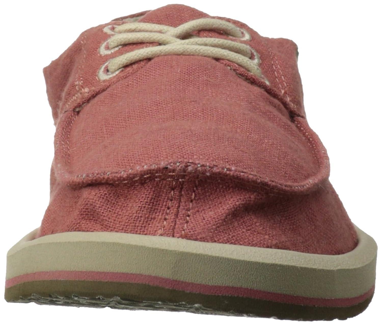 Sanuk Home fashion Drewby pour homme - Rouge - Faded Brick  Empeignes en Cuir et Semelle de Caoutchouc - Marron - Marron foncé  Sneakers Basses Femme N8c7koLbC,