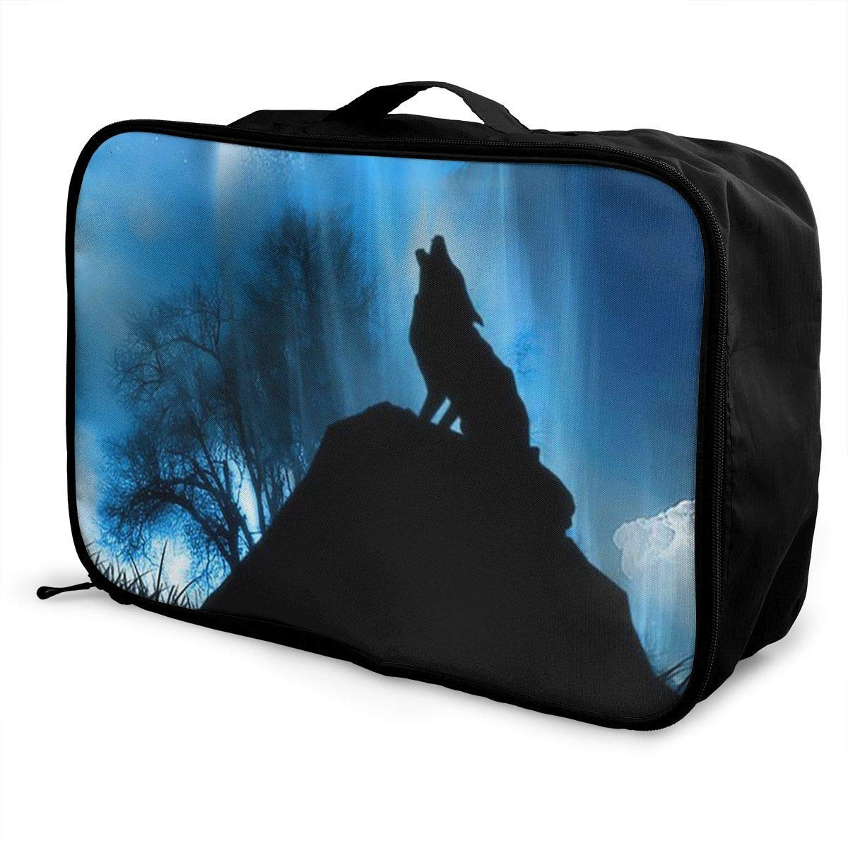 Portable Luggage Duffel Bag Earth Wolf Travel Bags Carry-on In Trolley Handle