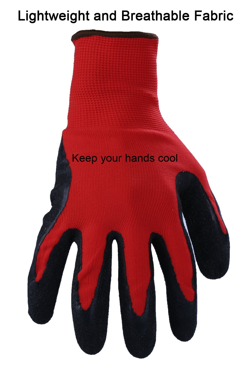 Ozero Working Gloves Rubber Work Glove With Stretchy Nylon Shell Ngk Lamp Timer 12v Dc Wire Diagram For Fishing Gardening Yard Farm Household Warehouse Repairment