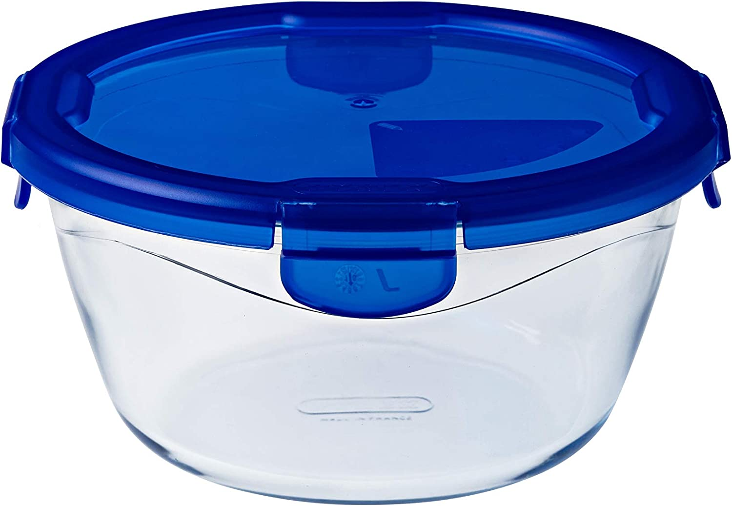 Pyrex Cook & Go Rectangular Glass Food Storage Container/Roaster with airtight and Leakproof 4 Clip Locking lid – Oven, Freezer and Microwave Safe - 20x9 cm - 1,60L