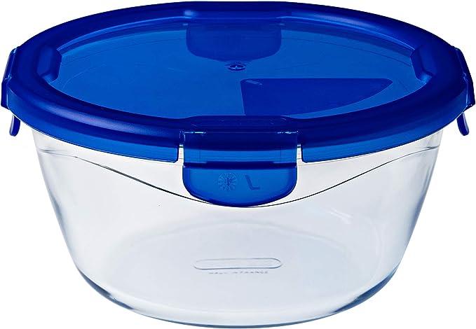 Pyrex Cook & Go Recipiente Redondo 15CM 68CL con Tapa Cook&GO, Azul, 2.41 cm
