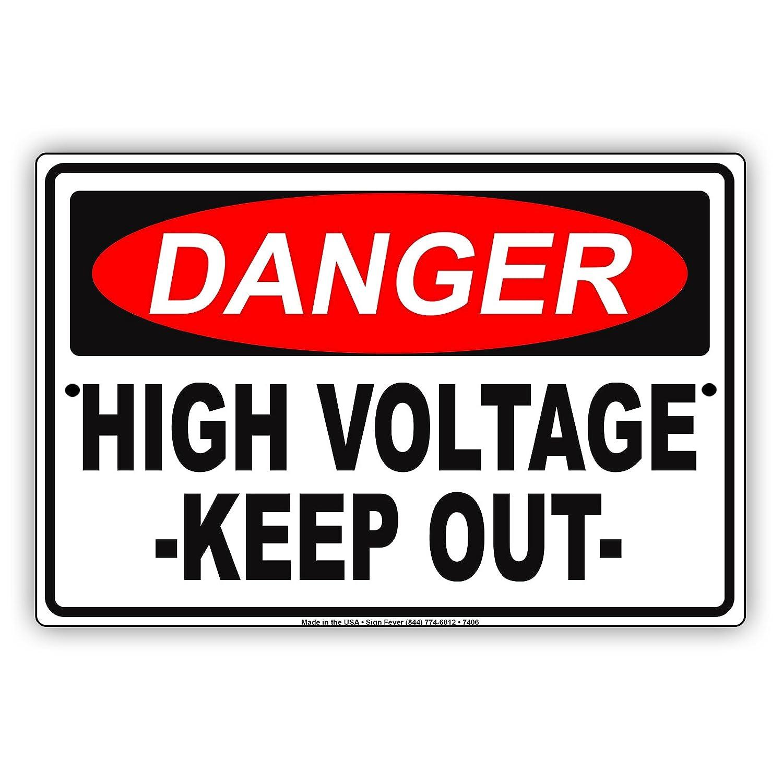 Placa de metal de aluminio con advertencia de alerta de alta ...