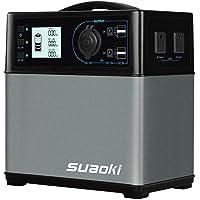 Suaoki 400Wh/120000mAh Portable Solar Generator Lithium ion Power Supply with Quiet 300W DC/AC Inverter
