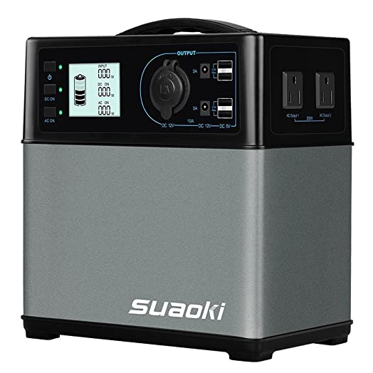 SUAOKI 400Wh 120,000mAh Portable Generator Power Station Power Supply