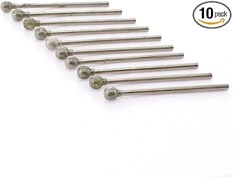 12pcs Gravure Diamant Grinding Burr Needle Point Sculpture en Verre De Polissage Drill Pierre Bit Outil