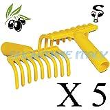 Rastrello pettine Manina per la raccolta delle olive, con predisposizione per manico plastica PZ 5