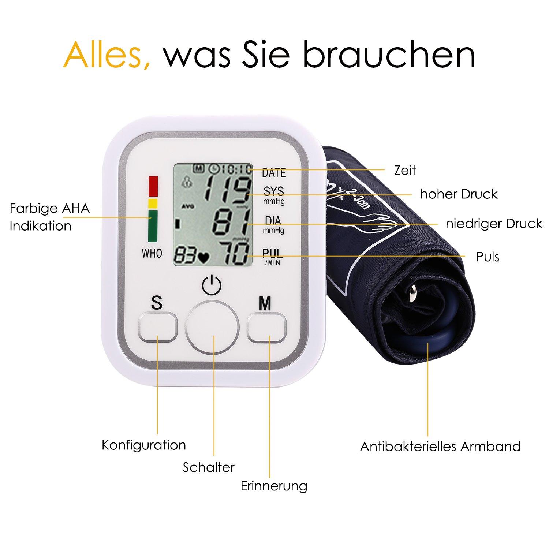 yivans ZK de 869b brazo Tensiómetro vollautomatische presión ...