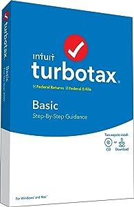 TurboTax Basic 2019 Tax Software [PC/Mac Disc]