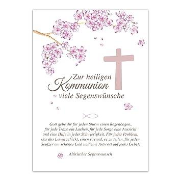 Kommunion Karte Text.Glückwunschkarte Kommunion Mit Umschlag Mit Schönem Text
