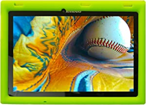 Bobj Rugged Case for Lenovo Tab 2 A10-70, A10-70F and Lenovo Tab 3 TB3-X70L, TB3-X70F - BobjGear Custom Fit - Patented Venting - Sound Amplification - Kid Friendly (Gotcha Green) Not for TB-X103F