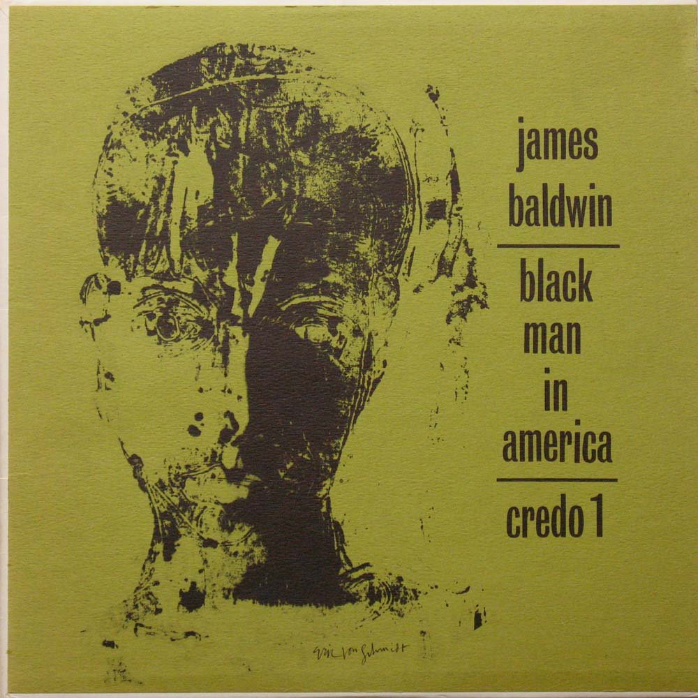 James Baldwin/ Black Man in America: An Interview by Studs Terkel. LP by CREDO 1