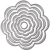 Whitelotous Cutting Dies Cut Dies Stencil Metal Template Mould for DIY Scrapbook Album Paper Card (7 pcs Flower)