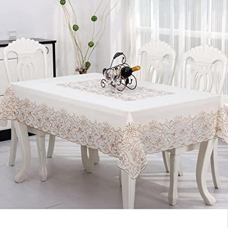 Home Style Tablecloth/PVCLace Table Cloth/ Oil Stain Proof Tablecloth/[