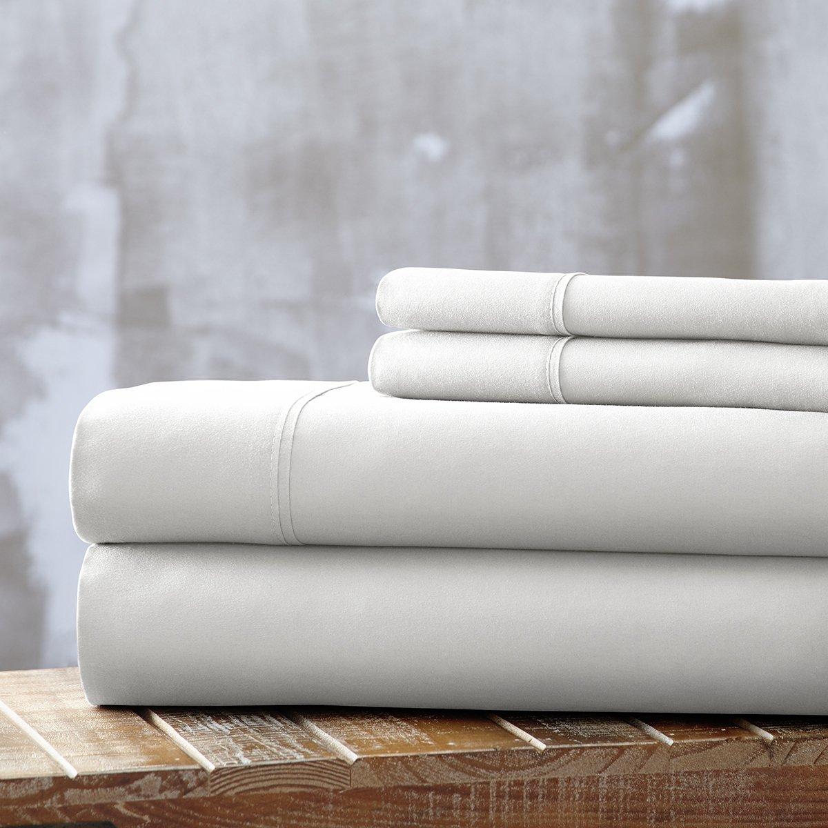 Spirit Linen, Inc Hotel 5th Ave EE-QUEEN-WHITE-4PC Queen White Everyday Essentials 1800 Series 4Pc Sheet Set