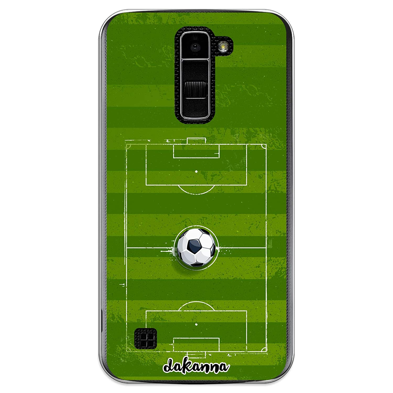 dakanna Funda para LG K10 4G | Campo y balón de fútbol | Carcasa ...