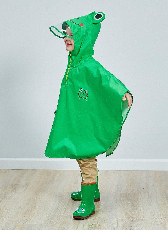 DAWNTUNG Unisex Kinder Regenm/äntel Leicht Regenanzug Wasserdict Regenjacken Cartoon Regenbekleidung Reflektore Regencape