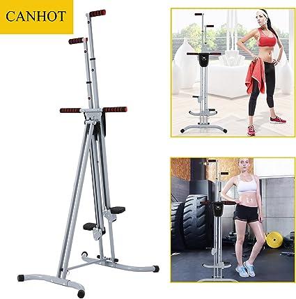 CANHOT - Escalera vertical para ejercicio cardiovascular, escalera plegable, máquina de entrenamiento de cuerpo total para gimnasio en casa, equipo de ejercicio de escalada para entrenamiento en el hogar: Amazon.es: Deportes y