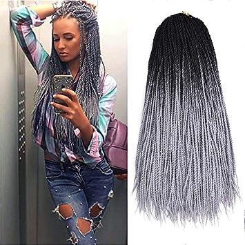 Two Tone Ombre Color 6pcs Senegalese Twist Crochet Hair 24inch