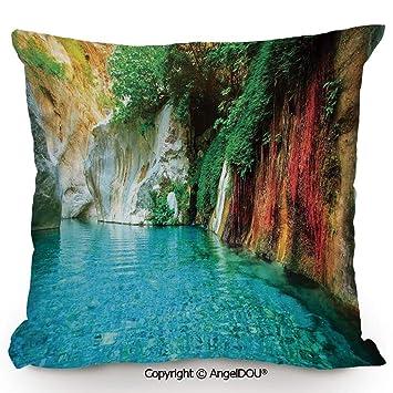 Amazon.com: AngelDOU - Cojín cuadrado de algodón y lino ...