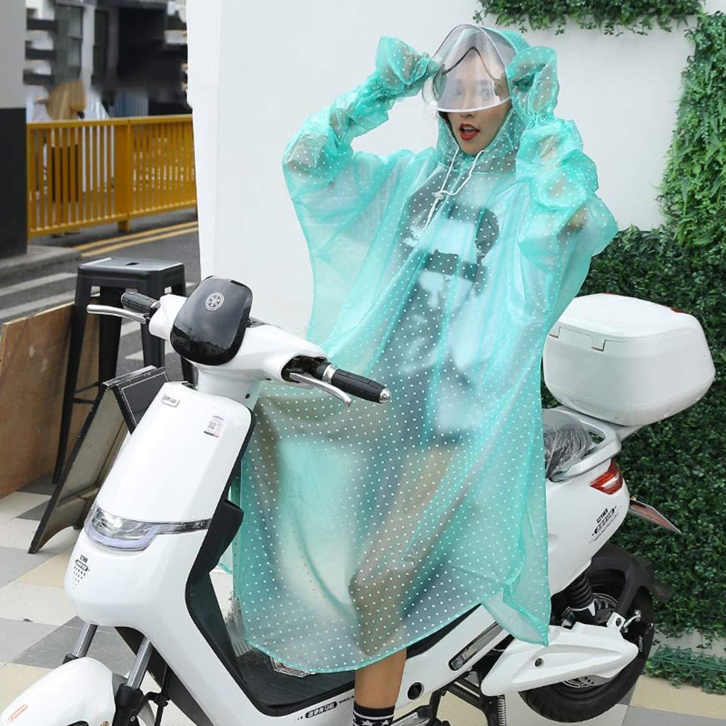 C  Poncho de Pluie à Monture Simple, Moto électrique, vélo électrique Adulte, vélo (Taille  3XL) (Couleur   C)
