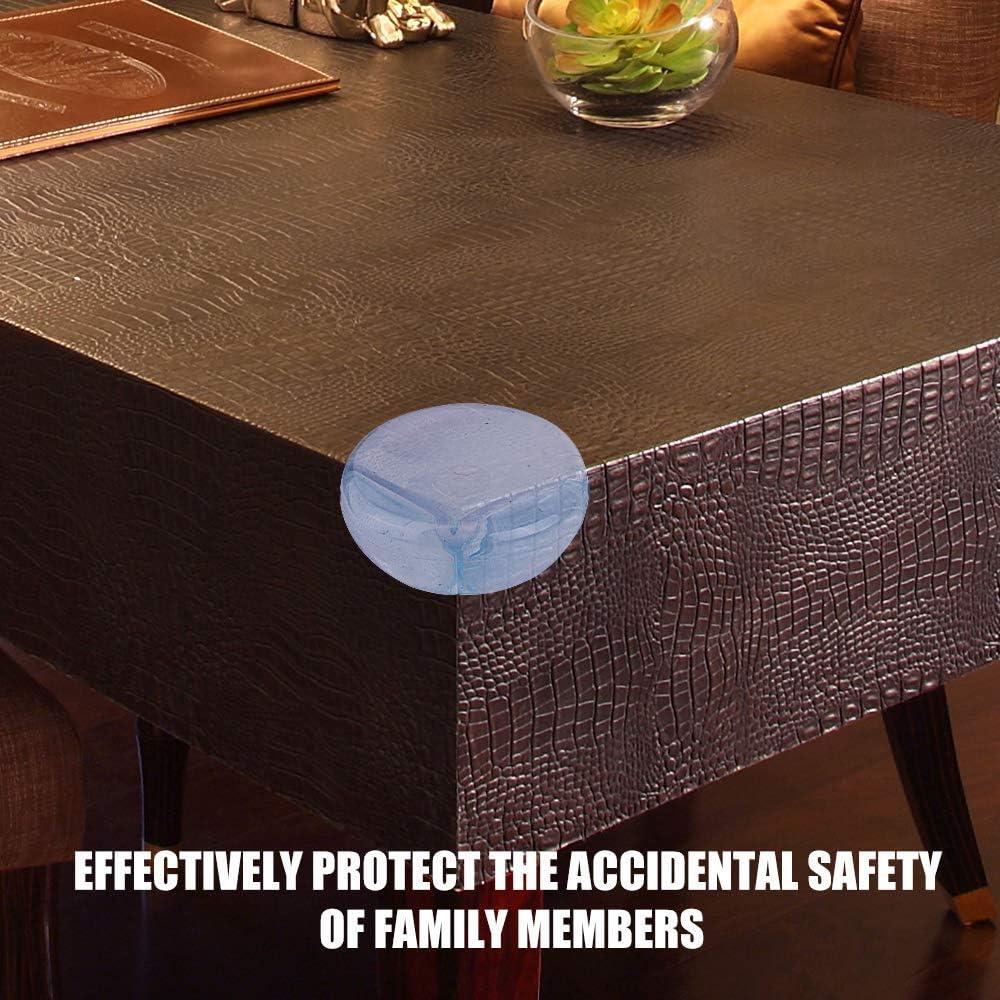 protectores de esquina de mesa transparentes 12 unidades Hengrongyuan almohadilla anticolisi/ón aplicable a muebles oficina y hogar protectores de esquina para ni/ños