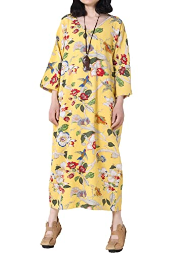 Mordenmiss Women's Printing Dress Travel Line Clothing