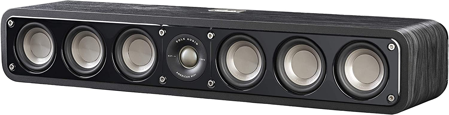 Polk Audio Signature Series S8 Center Channel Speaker (8 Drivers)   Surround Sound  Power Port Technology  Detachable Magnetic Grille