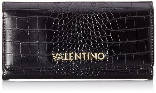 Mario Valentino - Porte-monnaie de Poliuretano Mujer, color Negro, talla 3x9x14 cm
