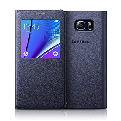 official photos b8b5b e04b0 [Blue Black] Samsung Galaxy Note5 S-View Flip Cover Case EF-CN920P for  Samsung Galaxy Note 5 (SM-N920) - Retail Packaging