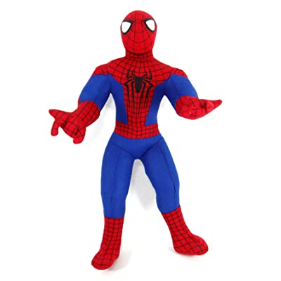 "Amazing Spiderman 2 - 14"" Plush - Spiderman Two Handed Web Sling: Toys & Games"
